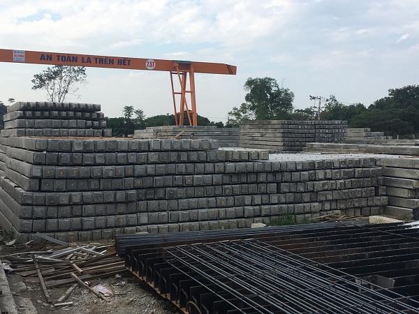 Xưởng đúc cọc bê tông cốt thép quy mô 4.000m/ngày